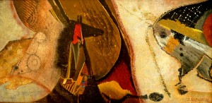 Suite pariétale XXXIII - Andante - Huile sur panneau - 40 x 80 cm