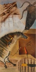 """Suite pariétale XIV """"Aubade"""" - huile sur toile - 40 x 80 cm"""