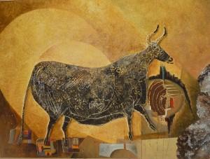 """Suite pariétale XIX """"Passacaille"""" - huile sur toile - 45 x 60 cm"""