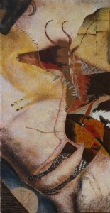 Suite pariétale XX - huile sur toile - 50 x 100 cm