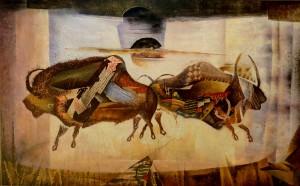 Suite pariétale XXXIV - Contrepoint - huile sur toile - 81 x 130 cm
