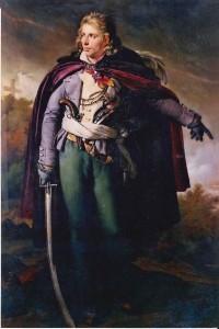 Le général Cathelineau - Huile sur toile 195 x 114 cm, d'après l'original du musée des guerres de Vendée (Cholet)
