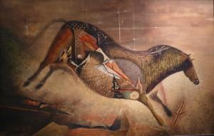 """Suite pariétale XXVI - """"Largo"""" - Huile sur toile - 92 x 60 cm"""