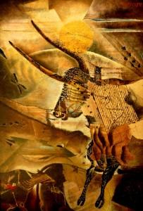 Suite pariétale XXXII - Ostinato II - huile sur panneau - 73 x 106 cm