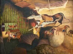 Suite pariétale XXVIII - Ostinato 1 - Huile sur toile - 100 x 73 cm